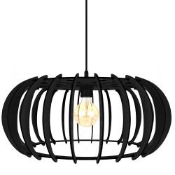 BORG czarny - Lampa drewniana