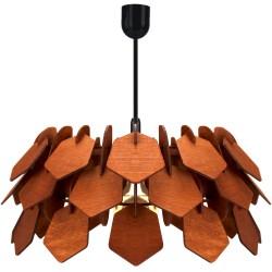 RONIN brąz  - Lampa drewniana