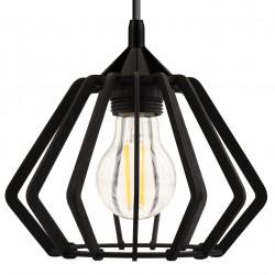 HEXAN czarna - Lampa drewniana