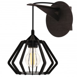 Kinkiet HEXAN- Lampa drewniana