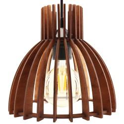 KIKO brąz - Lampa drewniana
