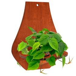 AZIR brąz - Kwietnik drewniany