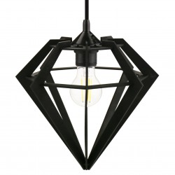 DURGA czarna - Lampa drewniana
