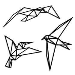 Drewniana ozdoba origami  -...